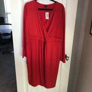 Torrid faux wrap dress v neck red size 1 NWT